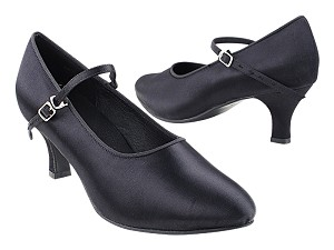 "SERA5522 Black Satin with 2.5"" Heel (2040) in the photo"