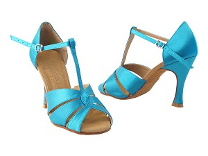 "SERA6006 120 Blue Satin with 3"" heel in the photo"