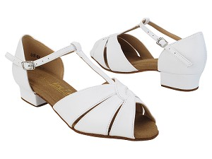 "SERA6006FT White Leather with 1"" Heel (8881) in the photo"