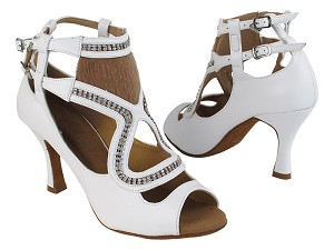 "SERA7018 277 Genuine White Leather with 3"" Heel (5059) in the photo"
