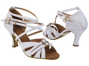 "SERA7030 White Leather with 3"" Heel (5059) in the photo"