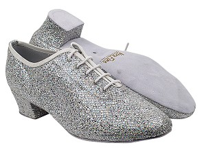 "2302 6 Silver Sparklenet with 1.5"" Latin Heel in the photo"