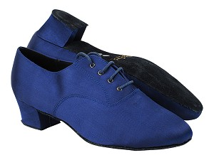"915108 301 Dark Blue Satin with 1.5"" Latin Heel in the photo"