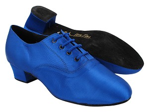 "915108 84 Gem Blue Sain with Men 1.5"" Latin Heel in the photo"