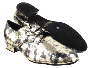 "916103 291 Black_Gold Granite with Men 1"" Standard Heel (2002) in the photo"