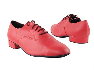 "919101 266 Red Leather with 1"" Standard Heel in the photo"