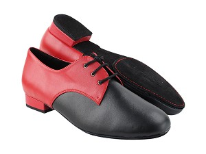 "C916103DB Black Leather_Red leather with Men 1"" Standard Heel (2002) in the photo"