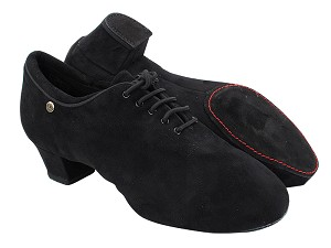 "CD9316 Black Nubuck with Men 1.5"" Latin Heel in the photo"