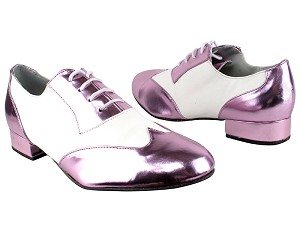 "M100101 150 Purple PU_F_B_White PU_M with 1"" standard heel in the photo"