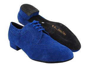 "S2509LEDSS Blue Suede  with 1"" heel in the photo"