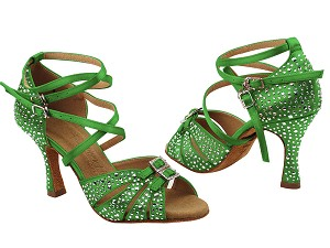 S92307MSC 138 Dark Green Satin with (YQG) 3 inch Heel in the photo