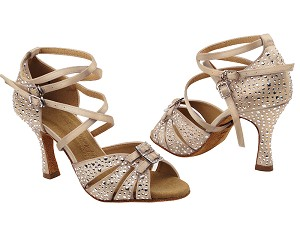 S92307MSC 283 Light Brown Satin with (YQG) 3 inch Heel in the photo