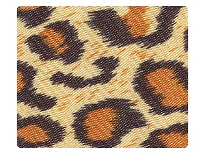 152 Leopard Satin Fabric Swatch