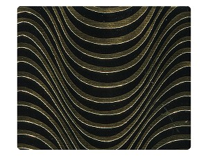179 Black_Gold Wave PU Fabric Swatch