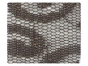 202 Lace Tan Mesh Fabric Swatch