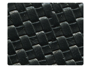 100 Black Weave PU Fabric Swatch