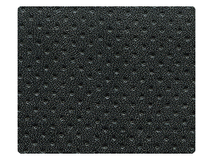112 Black Perforated PU Fabric Swatch