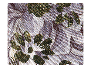 124 Grey_Gold Flower Satin Fabric Swatch