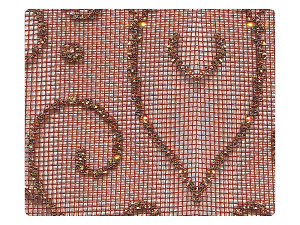 139 Copper Vine Mesh Fabric Swatch