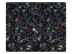 147 Black_Silver Illusion Sparkle Fabric Swatch