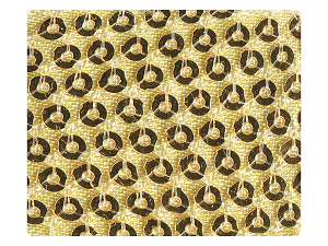23 Gold Sequin Satin Fabric Swatch