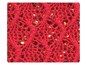 54 Knitted Red Sparkle Fabric Swatch