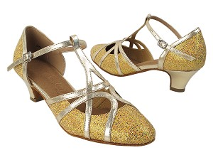 "SERA3541 Gold Scale & Gold Trim   with (5028) 1.2"" Cuban Heel in the photo"