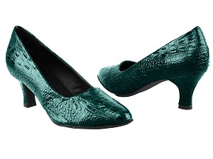 "SERA5513 Turquoise Croc with 2.5"" low heel in the photo"