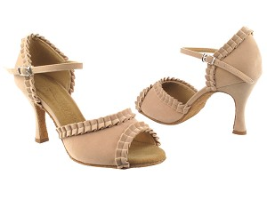 "SERA7001 Light Tan Velvet with 3"" heel in the photo"