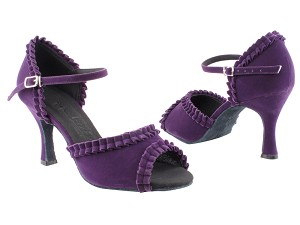 "SERA7001 Purple Velvet with 3"" heel in the photo"
