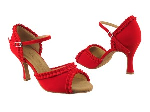 "SERA7001 Red Velvet with 3"" heel in the photo"