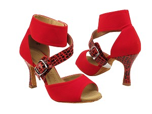 "SERA7015 Red Velvet with 3"" heel in the photo"