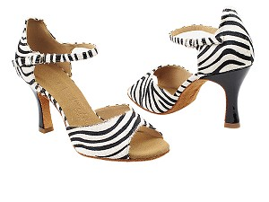 "SERA7028 Zebra with 3"" Flare Heel (5059) in the photo"