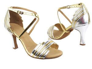 "SERA1700 Gold & Silver Trim with 3"" heel in the photo"