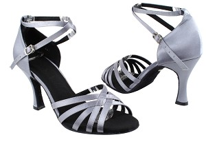 "SERA2613 Grey Satin with 3"" heel in the photo"
